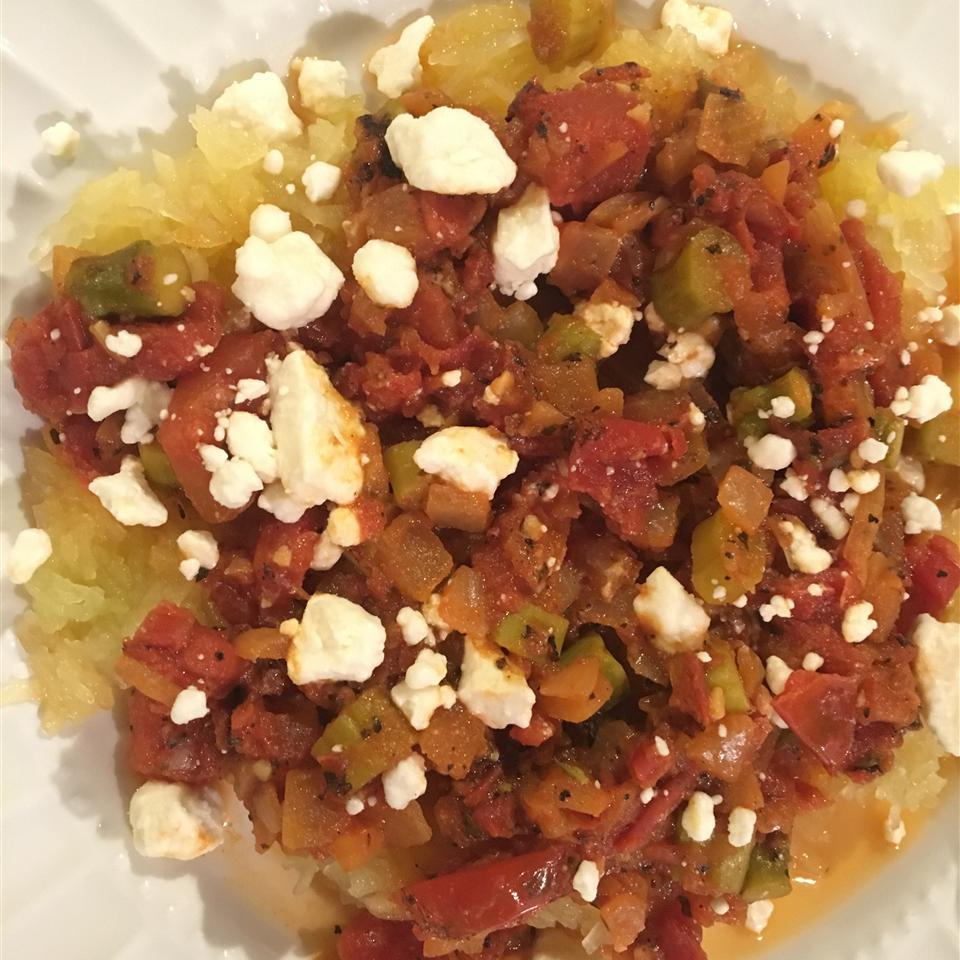 Spaghetti Squash with Fire Roasted Tomatoes