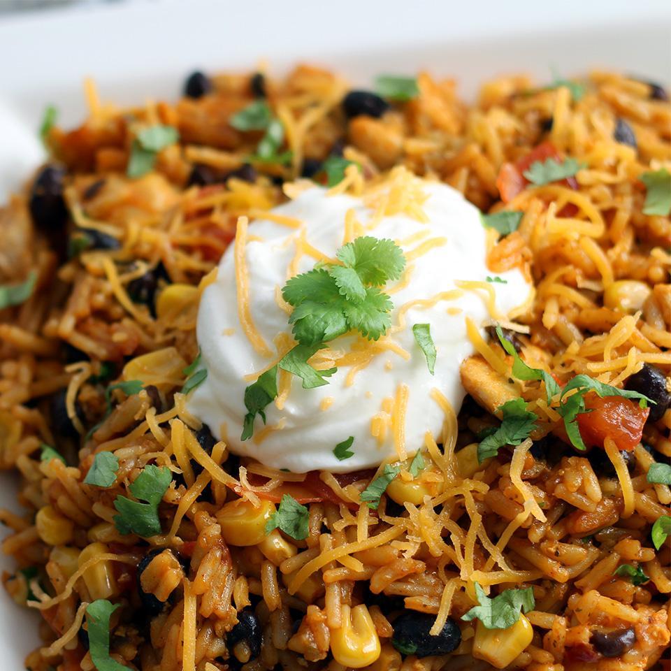 Easy Chicken Enchilada Rice Cookingnut