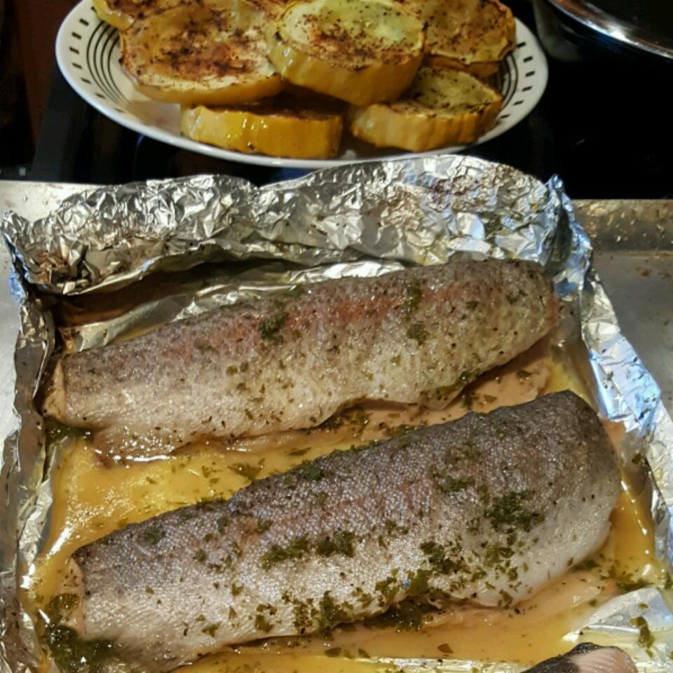 Foil Barbecued Trout with Wine Gary James