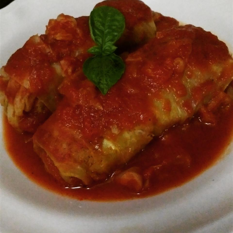 Lamb and Rice Stuffed Cabbage Rolls