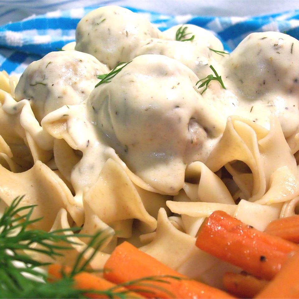 Danish Meatballs with Dill Sauce