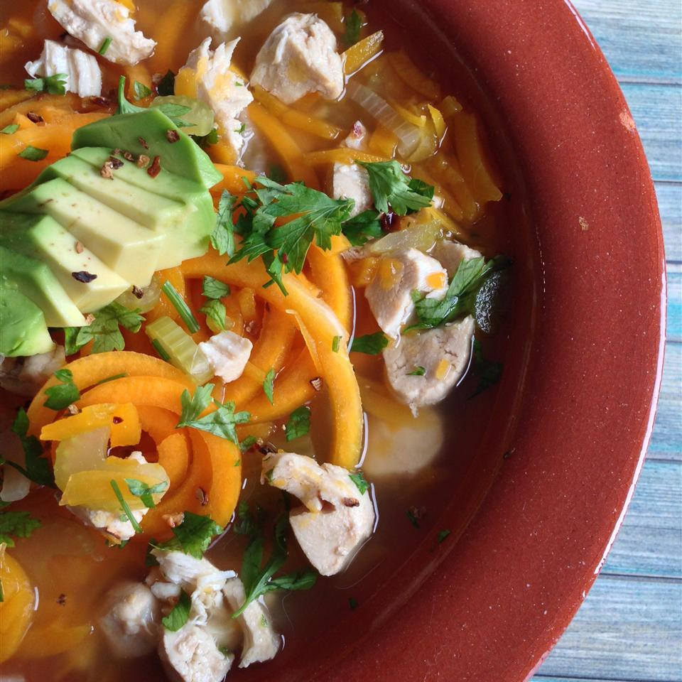 Butternut Squash Noodle Soup with Turkey Buckwheat Queen