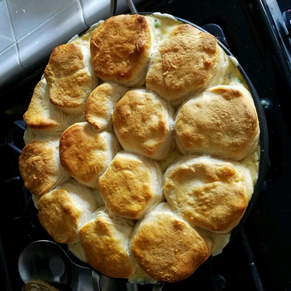 Chicken, Rice, and Biscuit Casserole