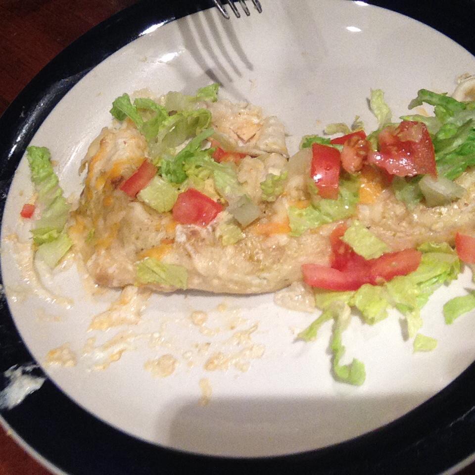 Easy White Chicken Enchiladas Shania Bowers