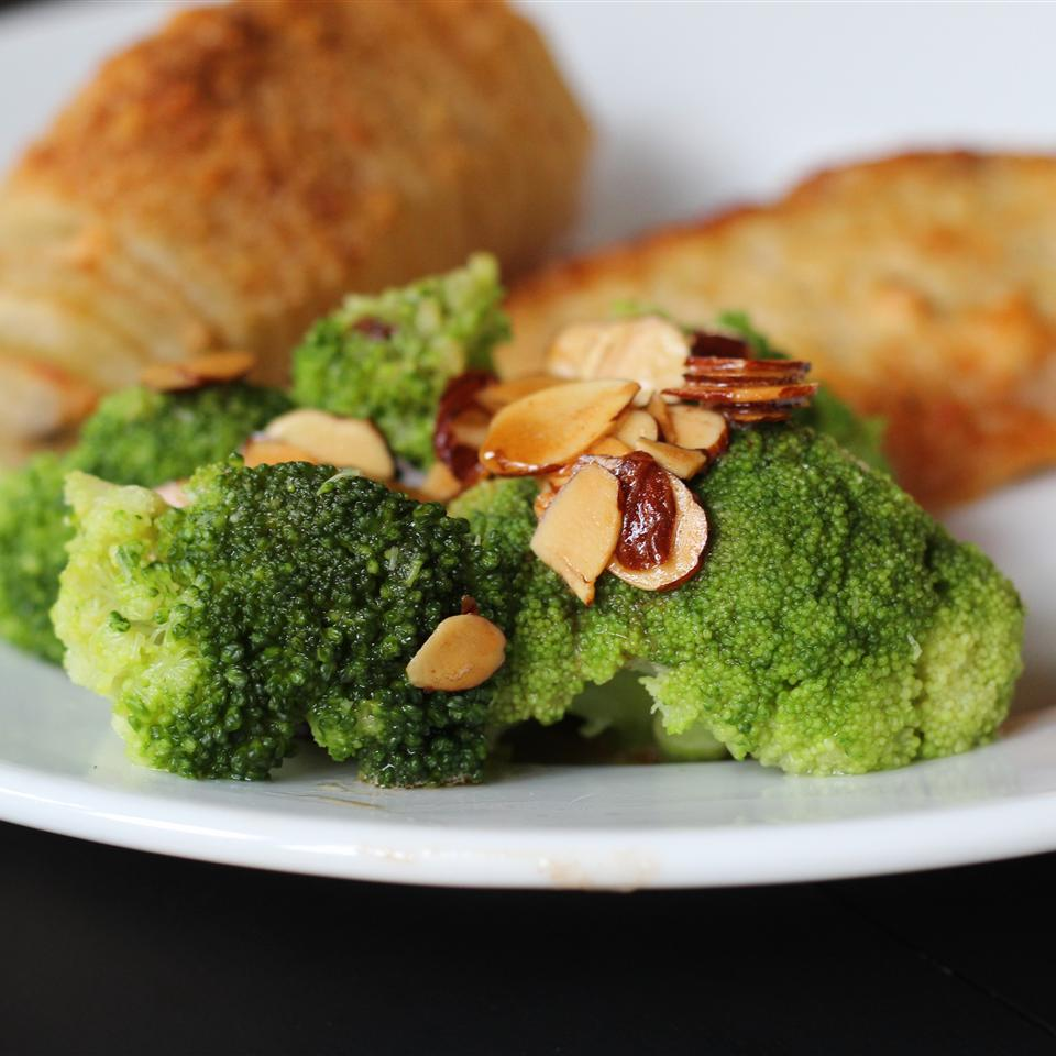 Broccoli With Lemon Almond Butter
