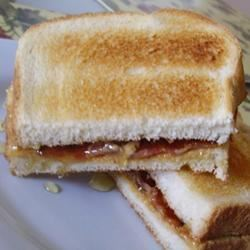 Peanut Butter, Bacon and Honey Sandwich