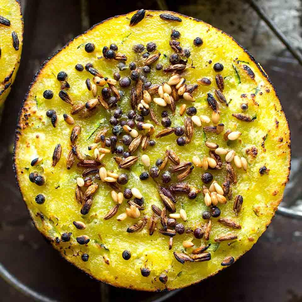 Savory Summer Squash Muffins (Dhoodhi Handvo) Shefaly Ravula & Amee Meghani