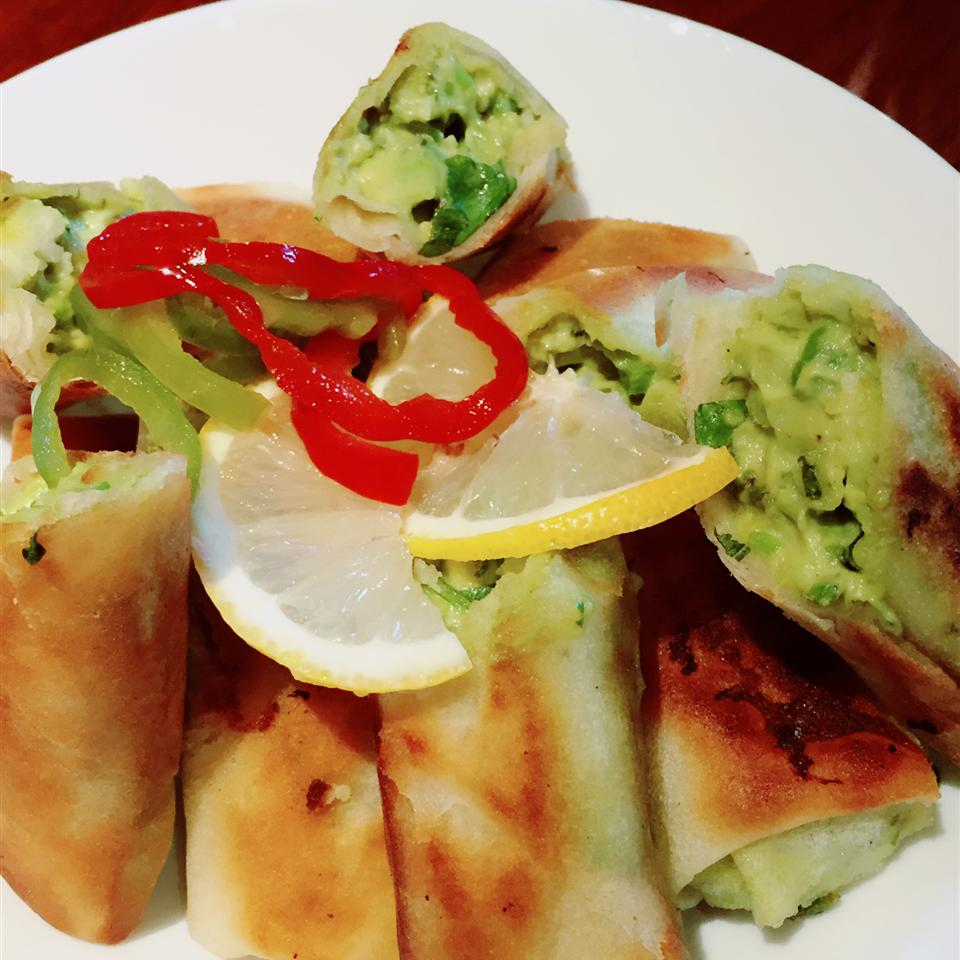 Avocado and Sun-Dried Tomato Spring Rolls ronnie