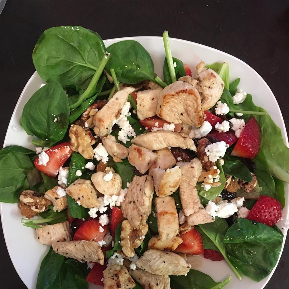 Spring Strawberry Salad with Chicken Julio Cesar Chavez