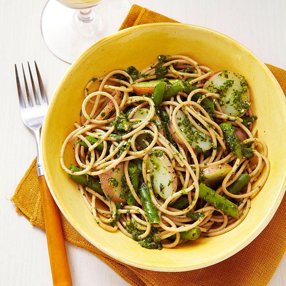Spaghetti Genovese EatingWell Test Kitchen