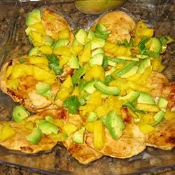 Spicy Cuban Mojo Chicken with Mango-Avocado Salsa MrsLSmith