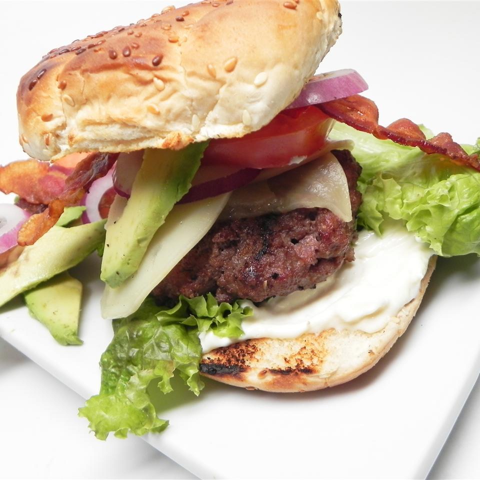 Jumbo Bacon Avocado Horseradish Cheeseburgers ChefCookie