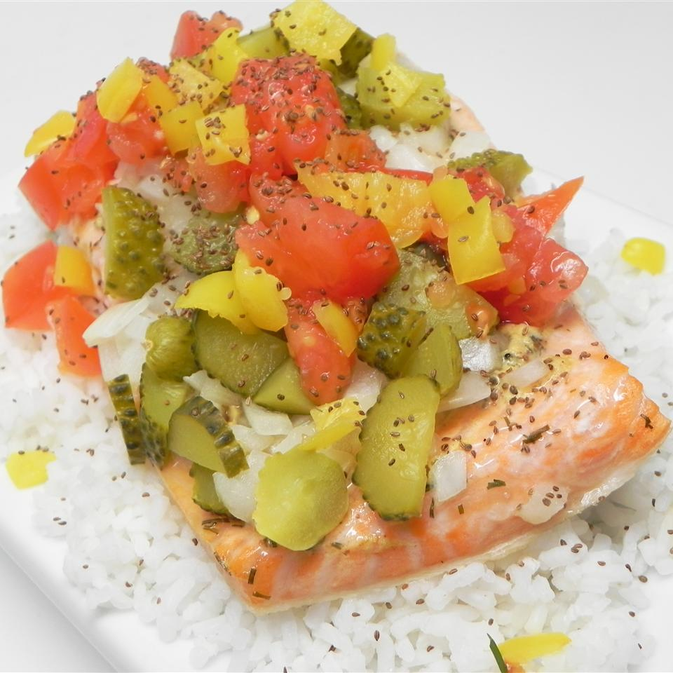 Chicago Hot Dog-Style Salmon