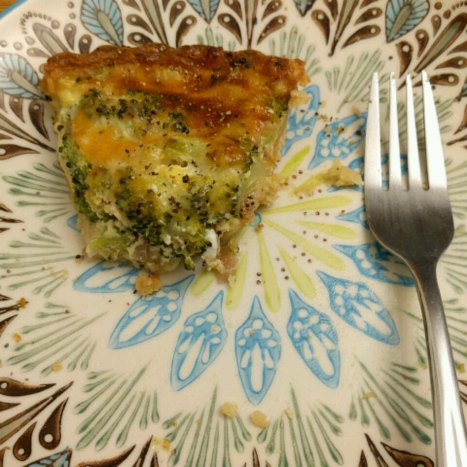 Broccoli and Provolone Quiche Sandra Bianco