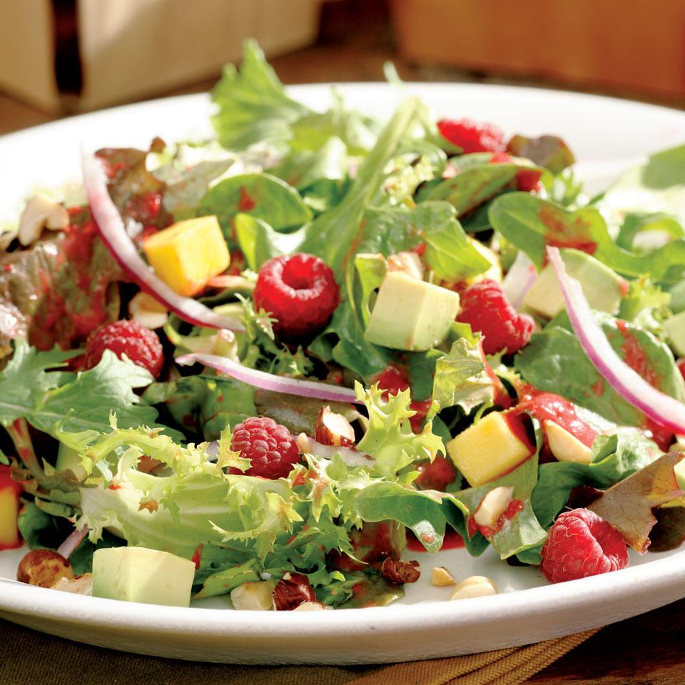 Raspberry, Avocado & Mango Salad Marie Simmons