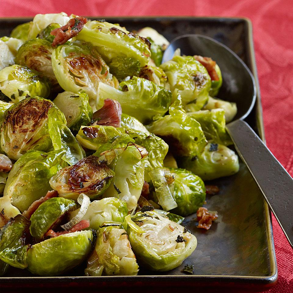 Roasted Brussels Sprouts with Pancetta & Sage EatingWell Test Kitchen