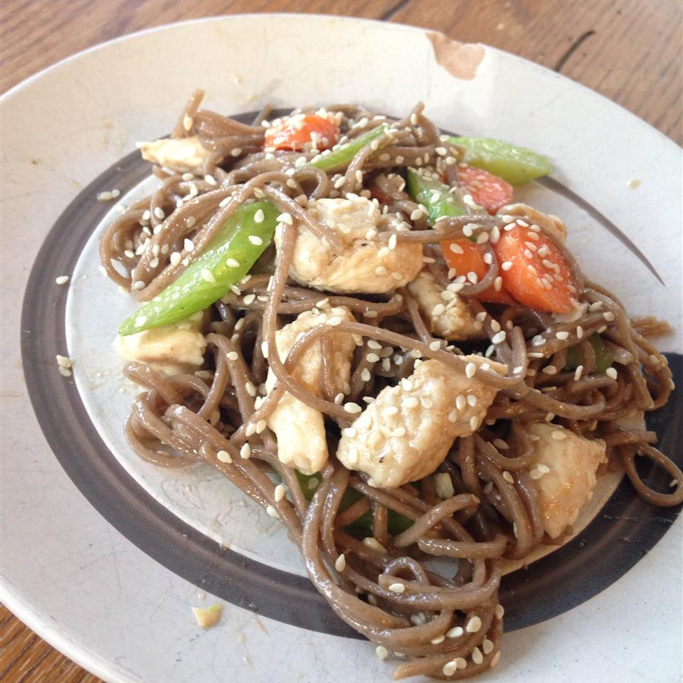 Soba Noodle Salad with Chicken and Sesame Claire Halberg