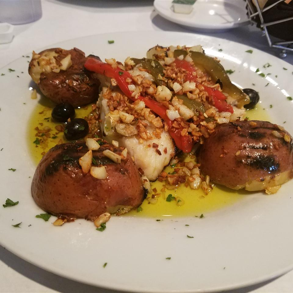 Bacalhau Portuguese ao Forno (Salt Cod with Tomatoes and Olives)