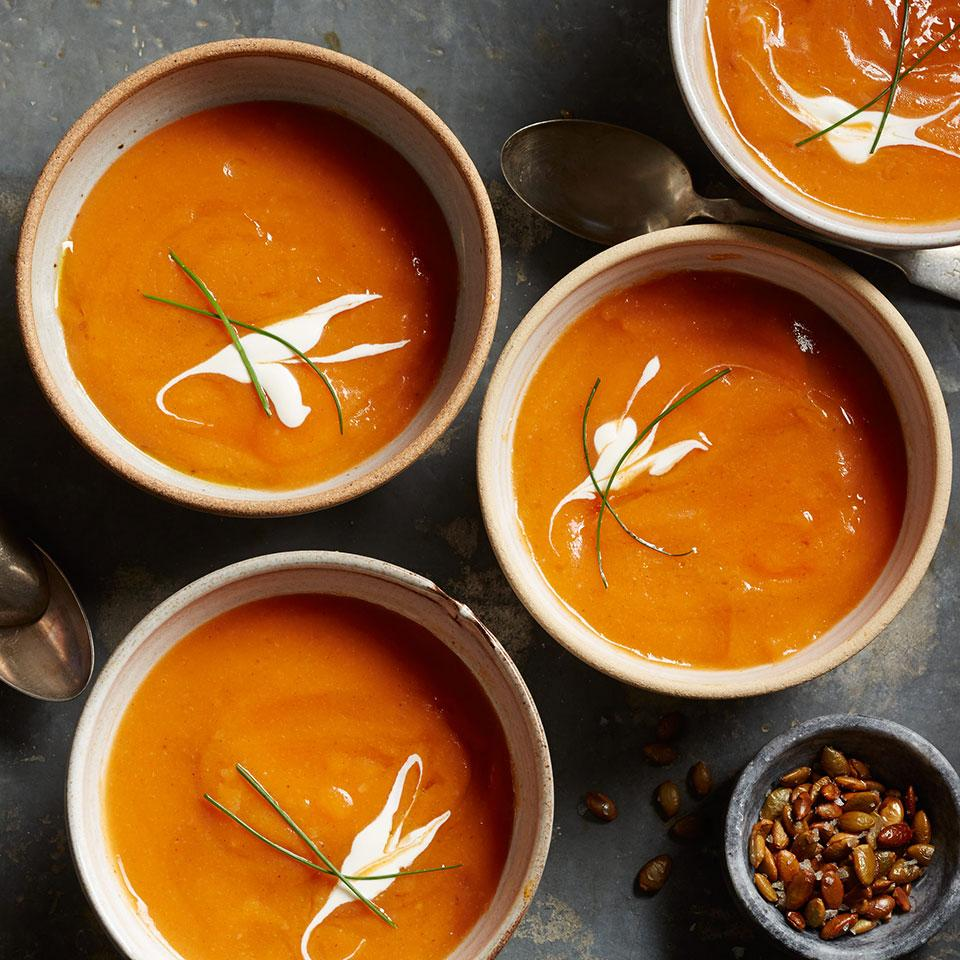 This silky-smooth butternut soup gets a hit of spice from chipotle, cloves and cumin.