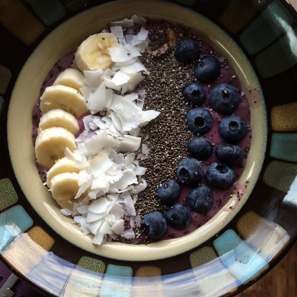 Blueberry Smoothie Bowl Alli Shircliff