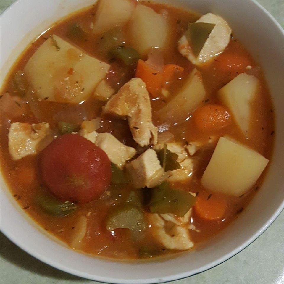 Moroccan Stew with Chicken and Pearl Onions Erica11311