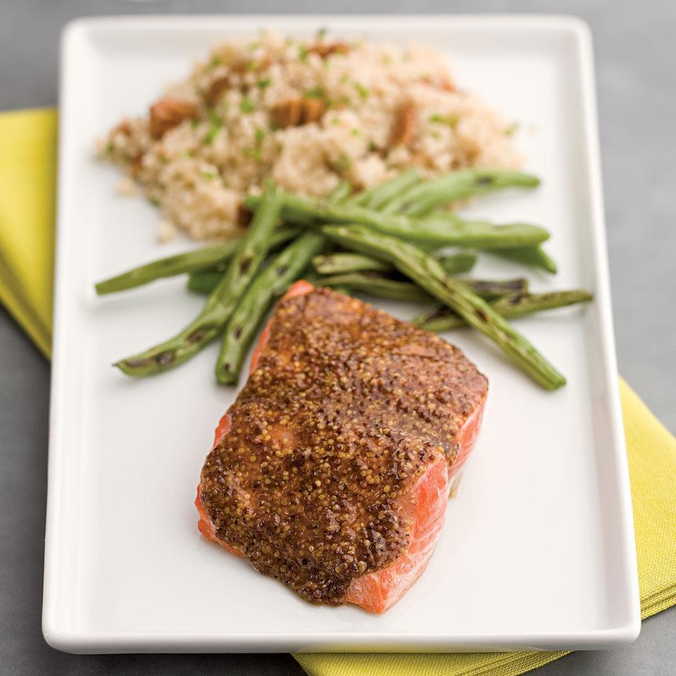 Smoky Maple-Mustard Salmon EatingWell Test Kitchen