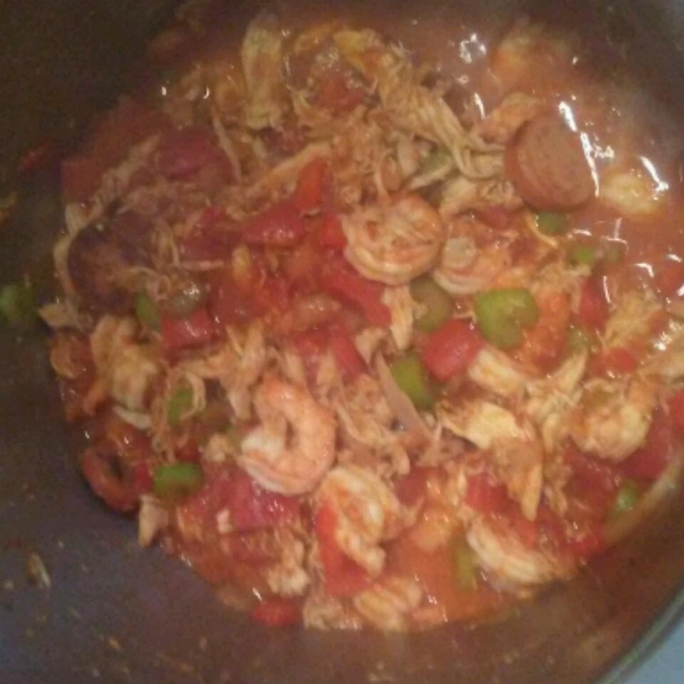 Andouille, Shrimp, and Chicken Jambalaya Michael Tibbitts