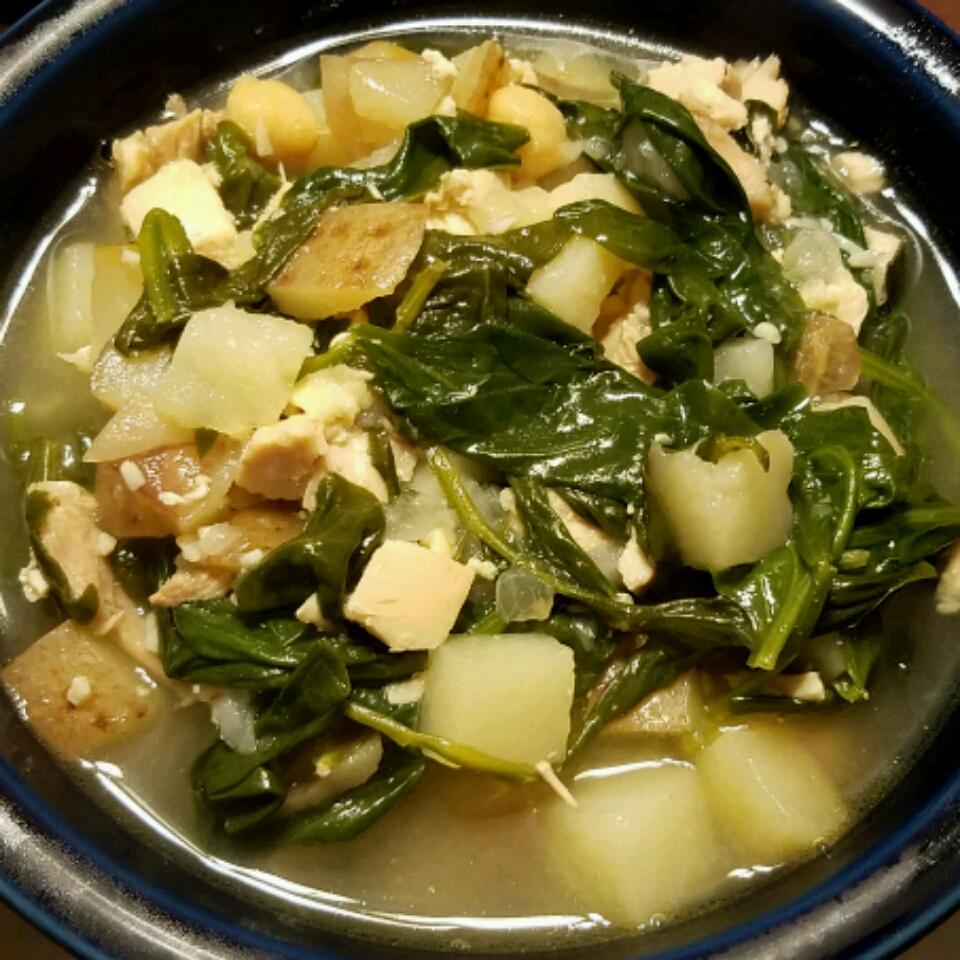 Chicken, Spinach, and Potato Soup Catherine Ann
