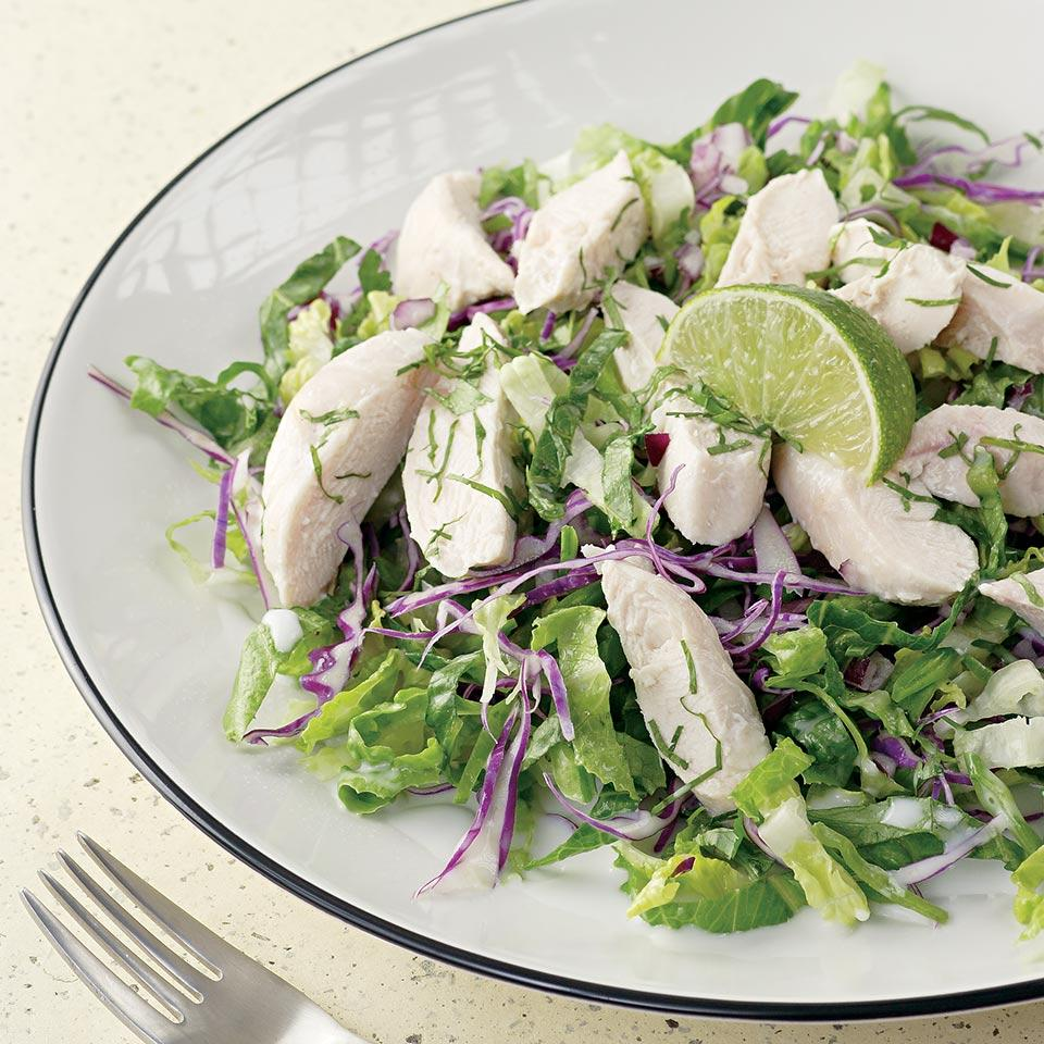 Coconut-Lime Chicken & Snow Peas EatingWell Test Kitchen