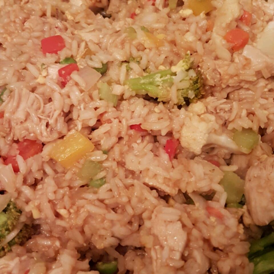 Roasted Garlic Teriyaki Fried Rice with Chicken Kimberly