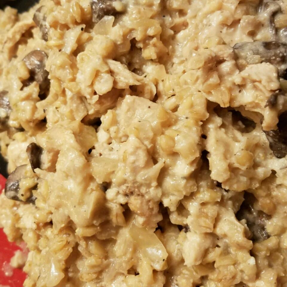 Mushroom Chicken Barley Risotto Kat Jerde