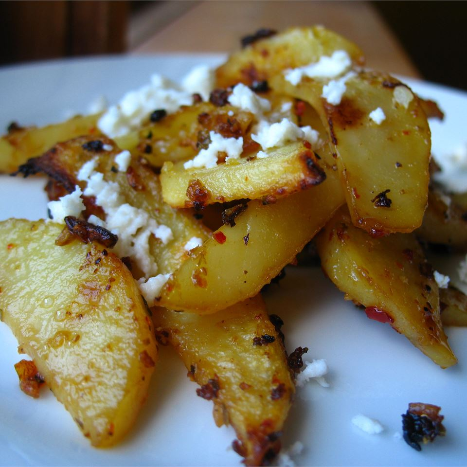 Herbed Greek Roasted Potatoes with Feta Cheese - Printer Friendly