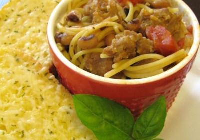 Italian Hot Turkey Sausage and Black-Eyed Peas