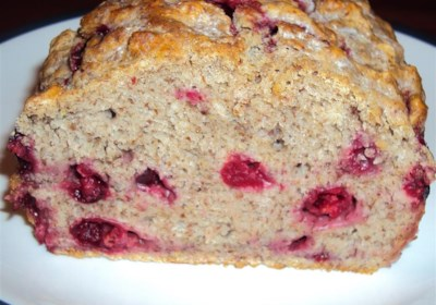Cranberry Cinnamon Flax Beer Bread