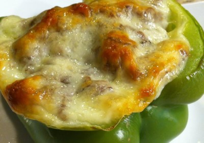 Philly Cheese Steak-Stuffed Bell Peppers
