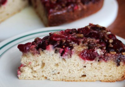 Cranberry Upside-Down Coffee Cake