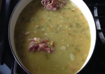 Ham Bone and Green Split Pea Soup