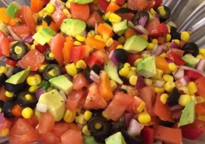Tomato, Corn and Avocado Salsa