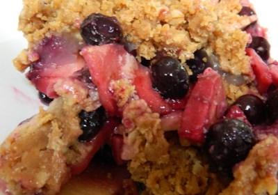 Blueberry-Apple Crunch