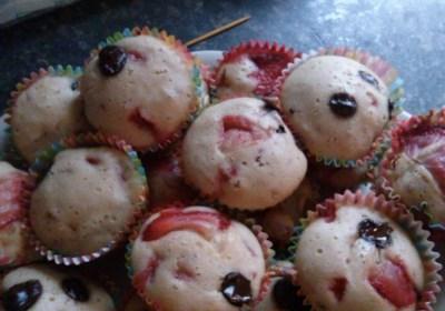 Valentine's Day Strawberry Muffins