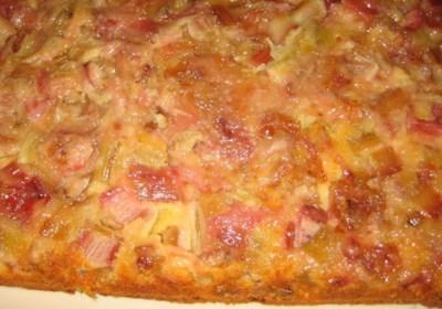 Rhubarb Upside Down Cake I