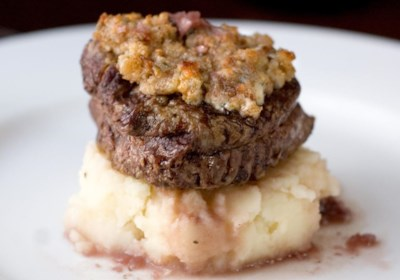 Blue Cheese Crusted Filet Mignon with Port Wine Sauce