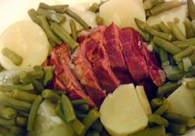 Crazy-Simple Cottage Ham, Potatoes, and Green Beans