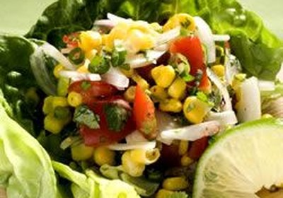 Corn, Sweet Onion, and Tomato Salad