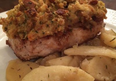 Apple Pork Chops and Stuffing