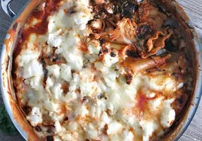 One-Pot Spinach Mushroom Lasagna