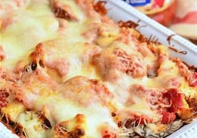 Layered Chicken Parmesan Gnocchi Bake
