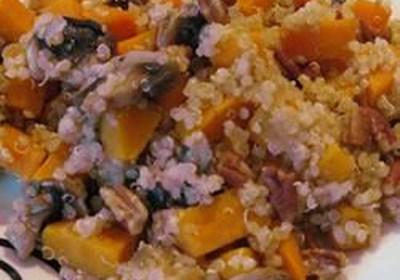 Quinoa with Sweet Potato and Mushrooms