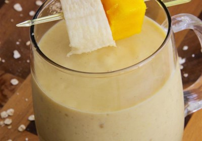 Mango Oatmeal Breakfast Smoothie
