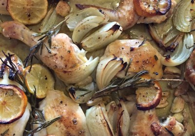 Roasted Chicken with Lemon and Rosemary